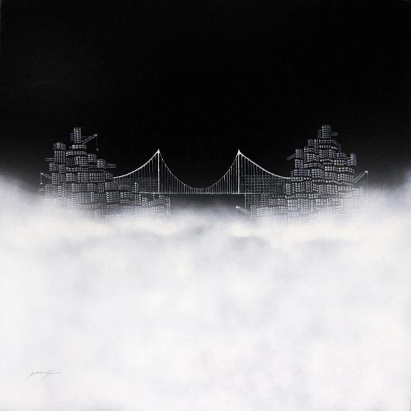 """"""" Lost City No.14 """", 120x120cm, Acrylic on canvas, 2011"""