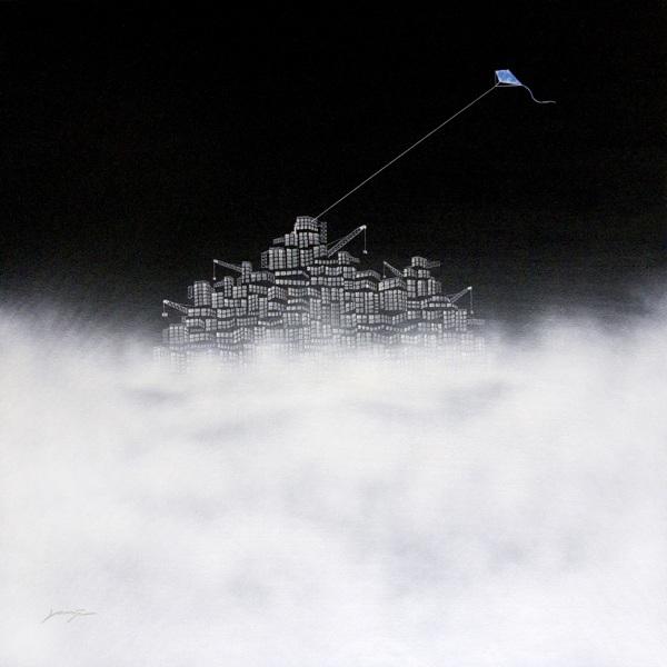 """"""" Lost City No.16 """", 120x120cm, Acrylic on canvas, 2011"""