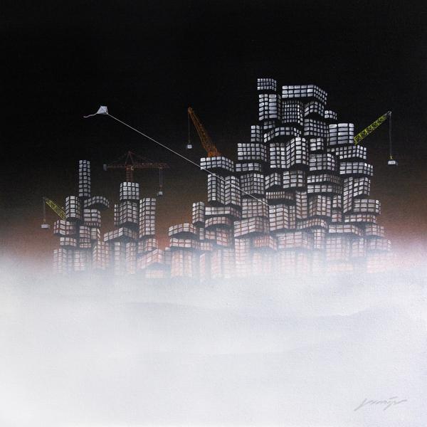 """"""" Lost City No.17 """", 80x80cm, Acrylic on canvas, 2012"""