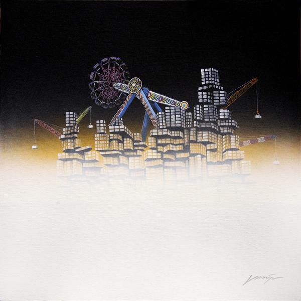 """"""" Lost City No.19 """", 80x80cm, Acrylic on canvas, 2012"""