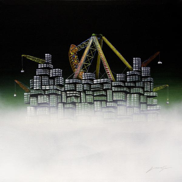 """"""" Lost City No.20 """", 80x80cm, Acrylic on canvas, 2012"""