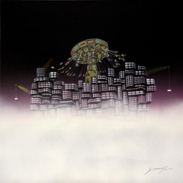 """"""" Lost City No.21 """", 80x80cm, Acrylic on canvas, 2012"""